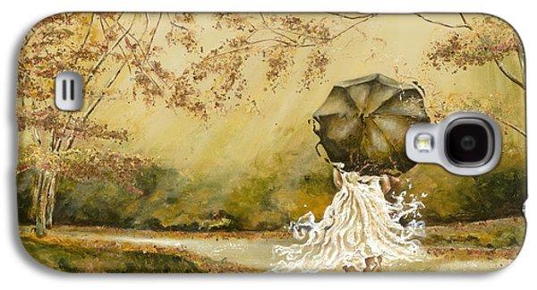 Ballerina Paintings Galaxy S4 Cases - The road Galaxy S4 Case by Karina Llergo Salto