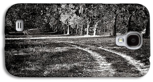 Country Dirt Roads Galaxy S4 Cases - The Road Less than Way Much Less Traveled  Galaxy S4 Case by Olivier Le Queinec