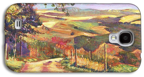 Pastoral Paintings Galaxy S4 Cases - The Road To Tuscany Galaxy S4 Case by David Lloyd Glover