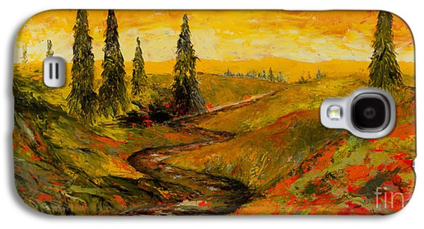 Sunset Abstract Galaxy S4 Cases - The Road to Tuscany Galaxy S4 Case by Larry Martin