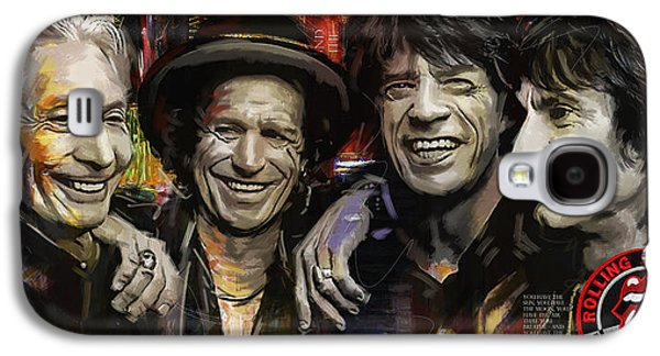 Keith Richards Galaxy S4 Cases - The Rolling Stones Galaxy S4 Case by Corporate Art Task Force