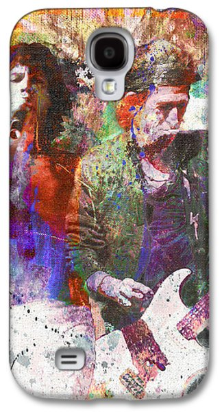 Keith Richards Galaxy S4 Cases - The Rolling Stones Original Painting Print  Galaxy S4 Case by Ryan RockChromatic