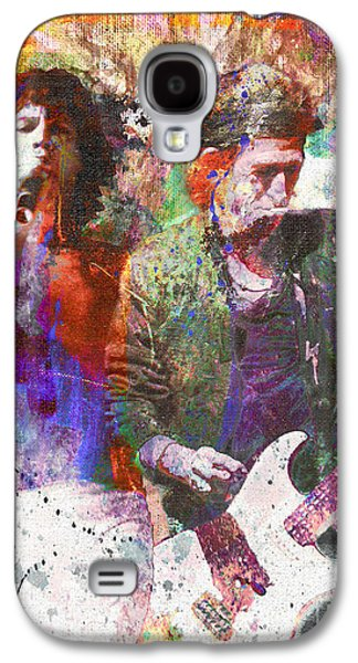 The Rolling Stones Original Painting Print  Galaxy S4 Case by Ryan Rock Artist