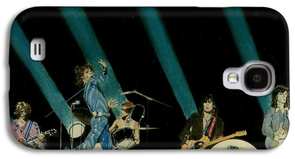 Music Pastels Galaxy S4 Cases - The Rolling Stones - Rip This Joint Galaxy S4 Case by Sean Connolly