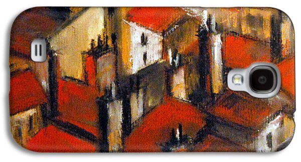 Chimneys Galaxy S4 Cases - The Roofs Of Lyon Galaxy S4 Case by Mona Edulesco