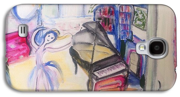 Dance Floor Paintings Galaxy S4 Cases - The room of my mother Galaxy S4 Case by Judith Desrosiers