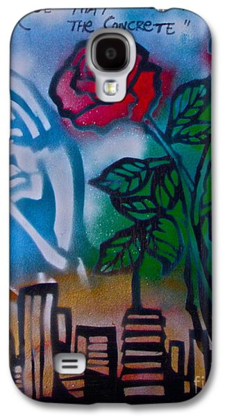 Free Speech Galaxy S4 Cases - The Rose From The Concrete Galaxy S4 Case by Tony B Conscious