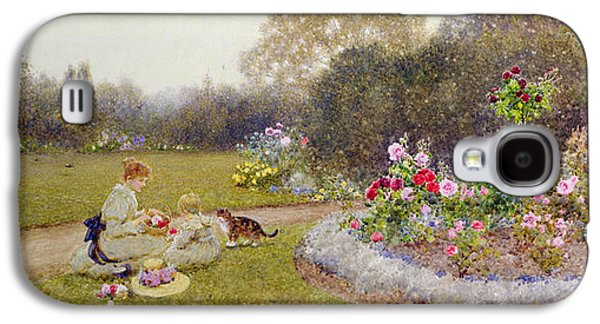 Pathway Paintings Galaxy S4 Cases - The Rose Garden Galaxy S4 Case by Thomas James Lloyd