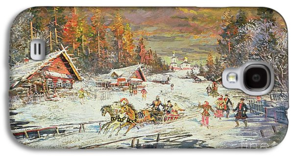 Sledge Galaxy S4 Cases - The Russian Winter Galaxy S4 Case by Konstantin Korovin