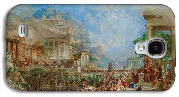 Greek Sculpture Galaxy S4 Cases - The Sack of Corinth Galaxy S4 Case by Thomas Allom