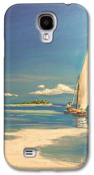 Beach Landscape Pastels Galaxy S4 Cases - The Sand Bar Galaxy S4 Case by The Beach  Dreamer