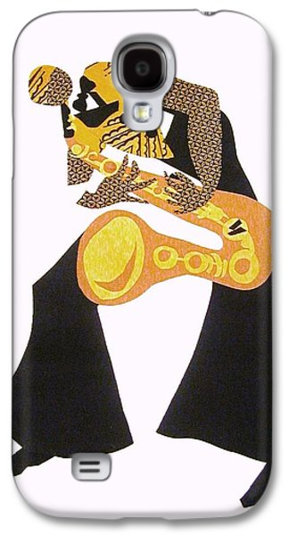 African-americans Tapestries - Textiles Galaxy S4 Cases - The Saxophonist original...sold Galaxy S4 Case by Ruth Yvonne Ash