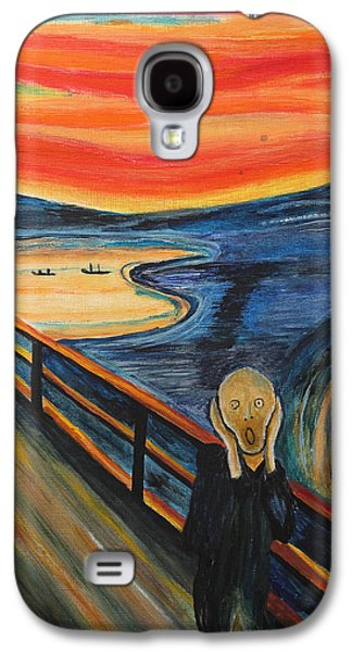 Disorder Paintings Galaxy S4 Cases - The Scream Galaxy S4 Case by Nirdesha Munasinghe
