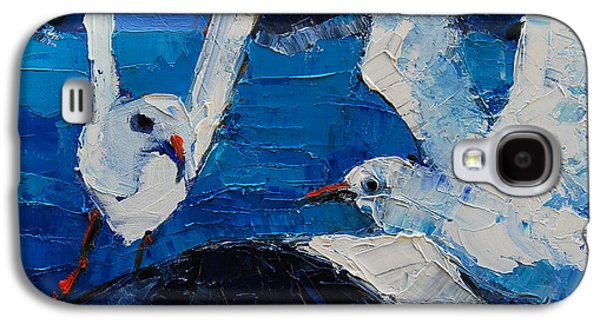 The Seagulls Galaxy S4 Case by Mona Edulesco