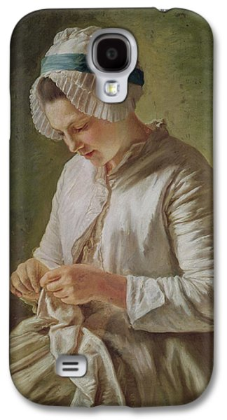 The Seamstress Or Young Woman Working Galaxy S4 Case by Francoise Duparc