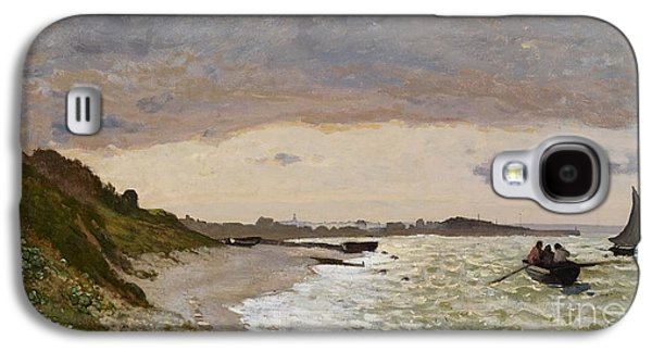 Grey Clouds Galaxy S4 Cases - The Seashore at Sainte Adresse Galaxy S4 Case by Claude Monet