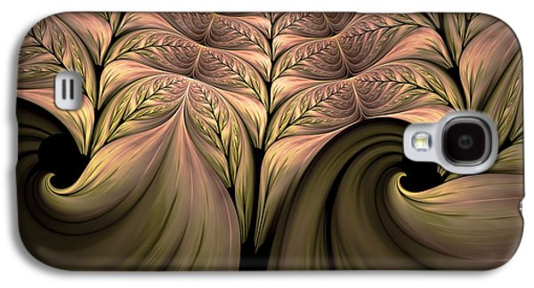 Youthful Galaxy S4 Cases - The Secret World Of Plants Abstract Galaxy S4 Case by Georgiana Romanovna