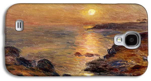 Setting Sun Galaxy S4 Cases - The Setting of the Sun at Douarnenez61 Galaxy S4 Case by Pierre Auguste Renoir
