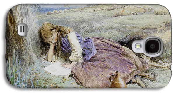 Sheep Digital Art Galaxy S4 Cases - The Shepherdess Galaxy S4 Case by Myles Birket Foster