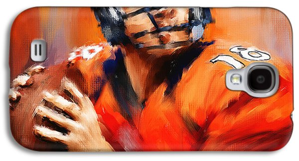 Rugby Paintings Galaxy S4 Cases - The Sheriff Galaxy S4 Case by Lourry Legarde