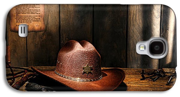Law Enforcement Galaxy S4 Cases - The Sheriff Office Galaxy S4 Case by Olivier Le Queinec