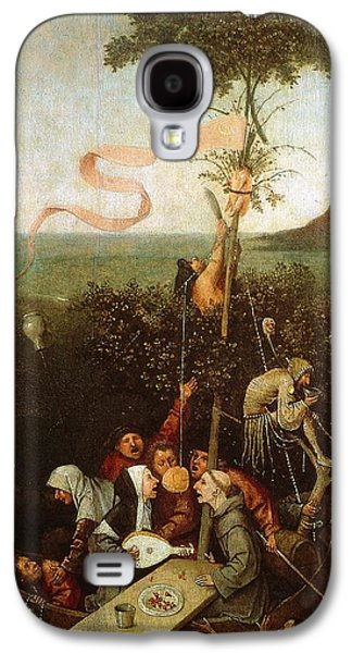 Moral Paintings Galaxy S4 Cases - The Ship of Fools Galaxy S4 Case by Hieronymus Bosch
