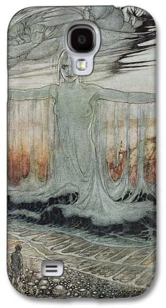 Wind Photographs Galaxy S4 Cases - The Shipwrecked Man And The Sea, Illustration From Aesops Fables, Published By Heinemann, 1912 Galaxy S4 Case by Arthur Rackham