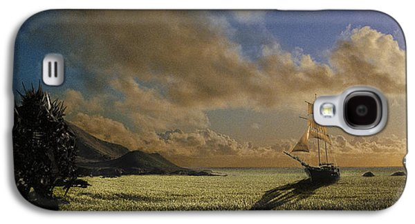 Recently Sold -  - Surreal Landscape Galaxy S4 Cases - The Shrike of Hyperion at the Sea of Grass Galaxy S4 Case by Nathan Spotts
