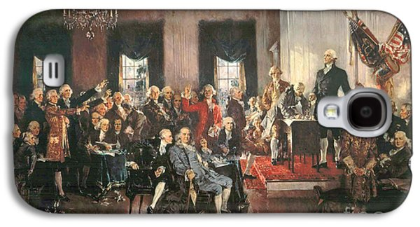 Politician Paintings Galaxy S4 Cases - The Signing of the Constitution of the United States in 1787 Galaxy S4 Case by Howard Chandler Christy