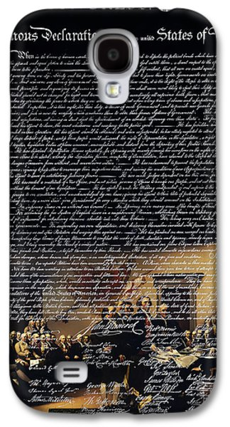 4th July Galaxy S4 Cases - The Signing of The United States Declaration of Independence v2 Galaxy S4 Case by Wingsdomain Art and Photography