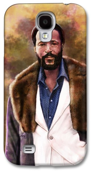 The Silky Silky Soul Singer - Marvin Gaye  Galaxy S4 Case by Reggie Duffie
