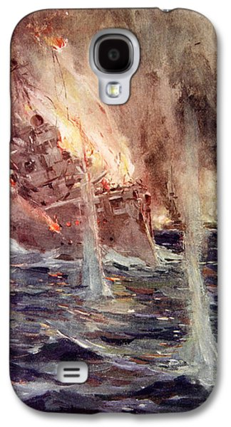 Wwi Paintings Galaxy S4 Cases - The Sinking of the Gneisenau Galaxy S4 Case by Cyrus Cuneo