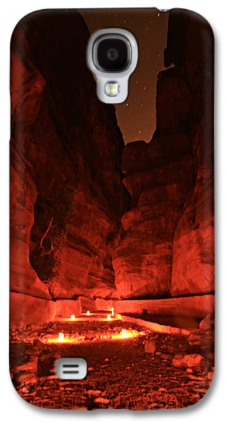 Nabatean Galaxy S4 Cases - The Siq -- Petra Galaxy S4 Case by Stephen Stookey