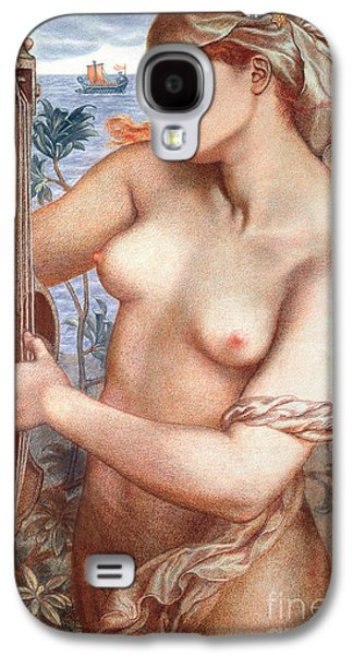 Alluring Paintings Galaxy S4 Cases - The Siren Galaxy S4 Case by Dante Charles Gabriel Rossetti