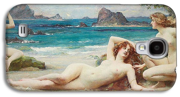 Lesbian Paintings Galaxy S4 Cases - The Sirens Galaxy S4 Case by Henrietta Rae