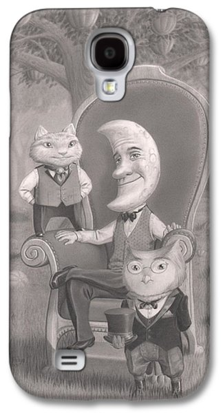 Creepy Drawings Galaxy S4 Cases - The Sitting Galaxy S4 Case by Richard Moore