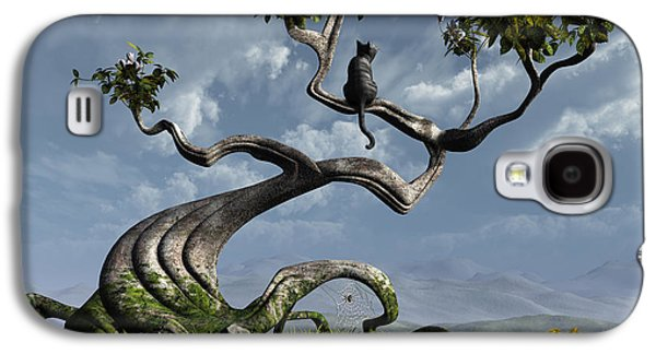 Peaceful Galaxy S4 Cases - The Sitting Tree Galaxy S4 Case by Cynthia Decker