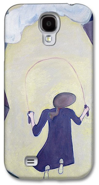 Pastimes Galaxy S4 Cases - The Skipping Rope, 1983 Oil On Canvas Galaxy S4 Case by Celia Washington
