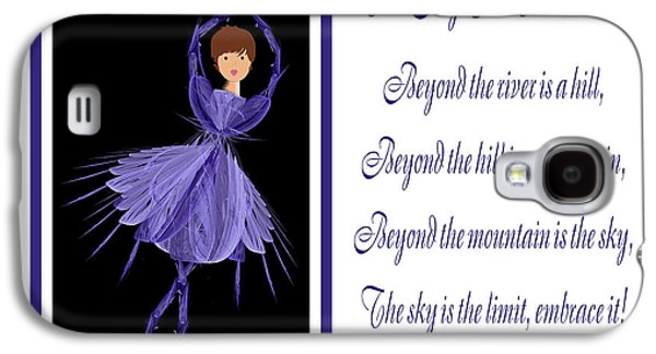 The Hills Mixed Media Galaxy S4 Cases - The Sky Is The Limit H 7 Galaxy S4 Case by Andee Design