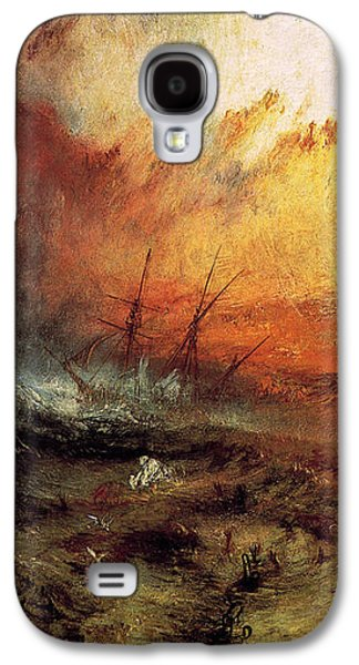 Slave Galaxy S4 Cases - The Slave Ship 1840 Galaxy S4 Case by J M W Turner