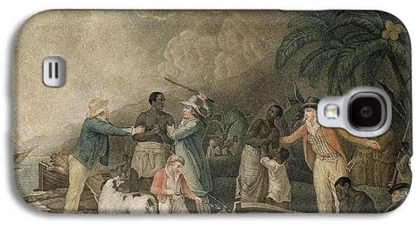 Slaves Galaxy S4 Cases - The Slave Trade, 1835 Coloured Engraving Galaxy S4 Case by George Morland
