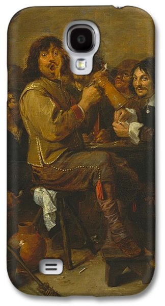 1636 Paintings Galaxy S4 Cases - The Smokers Galaxy S4 Case by Adriaen Brouwer