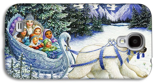 Christmas Cards - Galaxy S4 Cases - The Snow Queen Galaxy S4 Case by Lynn Bywaters