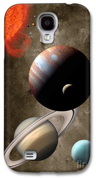 Animation Photographs Galaxy S4 Cases - The Solar System Galaxy S4 Case by Mike Agliolo