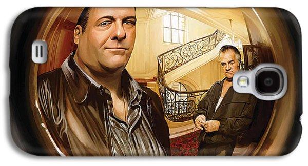 Soprano Galaxy S4 Cases - The Sopranos  Artwork 1 Galaxy S4 Case by Sheraz A