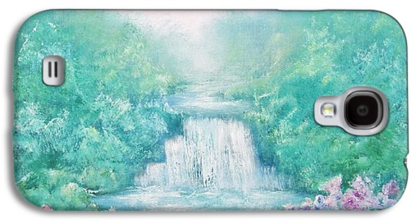 Waterfalls Paintings Galaxy S4 Cases - The Sound of Water Galaxy S4 Case by Hannibal Mane