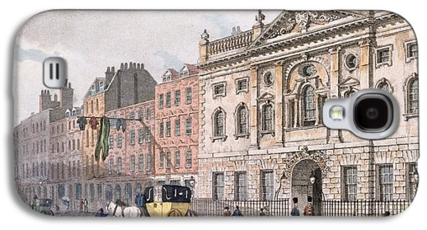 The South Front Of Ironmongers Hall, From R. Ackermanns Repository Of Arts 1811 Colour Litho Galaxy S4 Case by English School