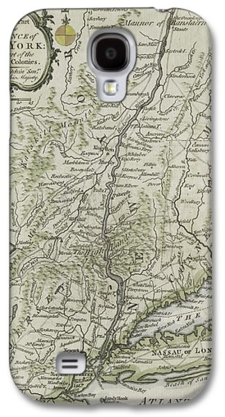 Plans Paintings Galaxy S4 Cases - The southern part of the Province of New York Galaxy S4 Case by Thomas Kitchin