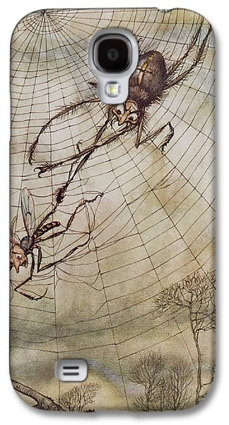 The Spider And The Fly Galaxy S4 Case by Arthur Rackham
