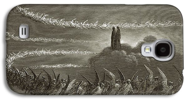 Rulers Galaxy S4 Cases - The Spirits in Jupiter Galaxy S4 Case by Gustave Dore